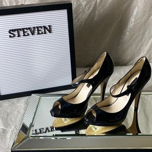 Steven by Steve Madden Brytni Leather Heels Size 8